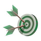 Target icon. Vector target icon in green tones Royalty Free Stock Photos