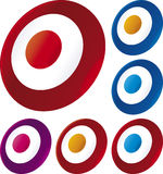 Target icon. Vector illustration of target icon in assorted colors Royalty Free Stock Photos