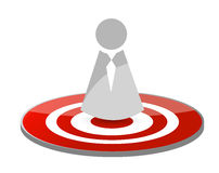 Target icon avatar illustration design Royalty Free Stock Photos