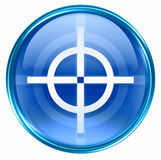 Target icon blue Royalty Free Stock Images