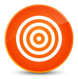 Target icon elegant orange round button Royalty Free Stock Image