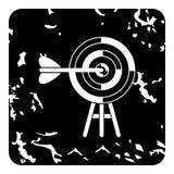 Target icon, grunge style Stock Photo