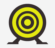Target icon illustrated. On a white background Royalty Free Stock Images