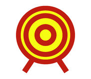 Target icon illustrated Royalty Free Stock Photos