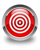 Target icon glossy red round button Royalty Free Stock Photography