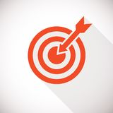 Target icon. Logo concept with long shadow Royalty Free Stock Photography