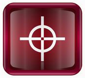 Target icon red Royalty Free Stock Images