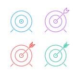 Target icon set Stock Image