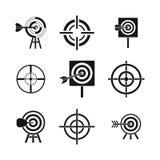 Target icon set, simple style royalty free illustration