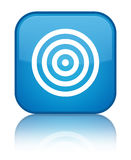 Target icon special cyan blue square button Royalty Free Stock Photography