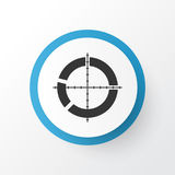 Target Icon Symbol. Premium Quality  Segmented Scope Element In Trendy Style. Royalty Free Stock Images