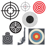 Target icon or symbol set Stock Photos