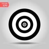 Target Icon Vector. Simple flat symbol. Perfect Black pictogram illustration on white background. Eps10 stock illustration
