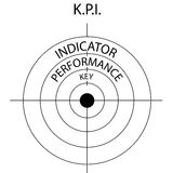 Target icon with word KPI. Royalty Free Stock Image