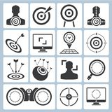 Target icons Stock Photography