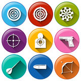 Target icons Stock Image