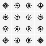 Target icons. This image is vector illustration and can be scaled to any size without loss of resolution, can be variated and used for different compositions Royalty Free Stock Images