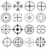 Target icons set Stock Photography