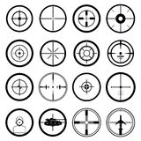 Target icons set Royalty Free Stock Image