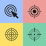 Target icons. Set of black target icons. Vector illustration Royalty Free Illustration