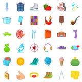 Target icons set, cartoon style. Target icons set. Cartoon style of 36 target vector icons for web isolated on white background Stock Photos