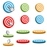 Target icons Royalty Free Stock Photo