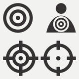 Target icons set. Goal design on white background. Vector. Stock Image