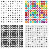 100 target icons set vector variant Stock Images