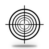 Target. Illustration of a black target sight over white Royalty Free Stock Photos
