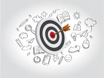 Target Illustration with Doodles Stock Image