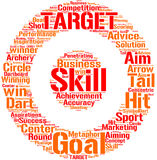 Target illustration tag cloud Stock Photo