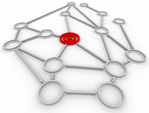 Free Target In Connected Network Stock Photo - 16157030