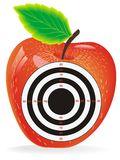 Target In The Center Of The Apple Stock Photo
