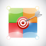 Target and info graphic color spaces illustration Royalty Free Stock Photography