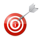 Target info illustration design Stock Photos