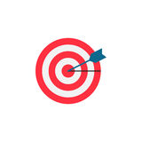 Target keyword flat icon. Seo and development, Darts sign, a colorful solid pattern on a white background, eps 10 Stock Photos