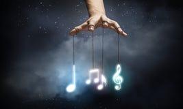target963_1_ klujący się ikon ilustracyjny muzyczny setu stylu wektor Zdjęcie Royalty Free