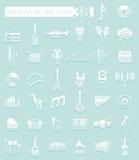 target963_1_ klujący się ikon ilustracyjny muzyczny setu stylu wektor Obrazy Stock