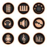 target963_1_ klujący się ikon ilustracyjny muzyczny setu stylu wektor Royalty Ilustracja