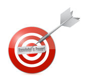 Target knowledge is power illustration design Royalty Free Stock Images