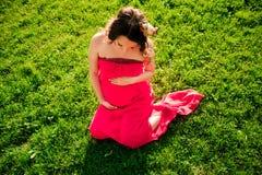 target2322_0_ kobieta w ciąży Obrazy Stock