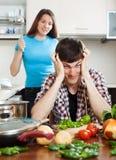 target4331_1_ konfliktu domatora kobieta w ciąży Fotografia Stock