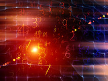 TARGET389_0_ Liczby Obrazy Stock