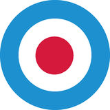 Target in lightblue with red center Royalty Free Stock Photography