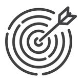 Target line icon, business and dartboard Royalty Free Stock Photos