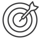 Target line icon royalty free illustration
