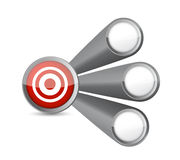Target link illustration Royalty Free Stock Photography