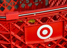 Target Logo on Shopping Cart Stock Photos