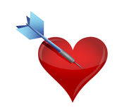 Target love concept illustration Royalty Free Stock Image