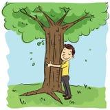 target274_1_ mężczyzna drzewa Zdjęcia Stock
